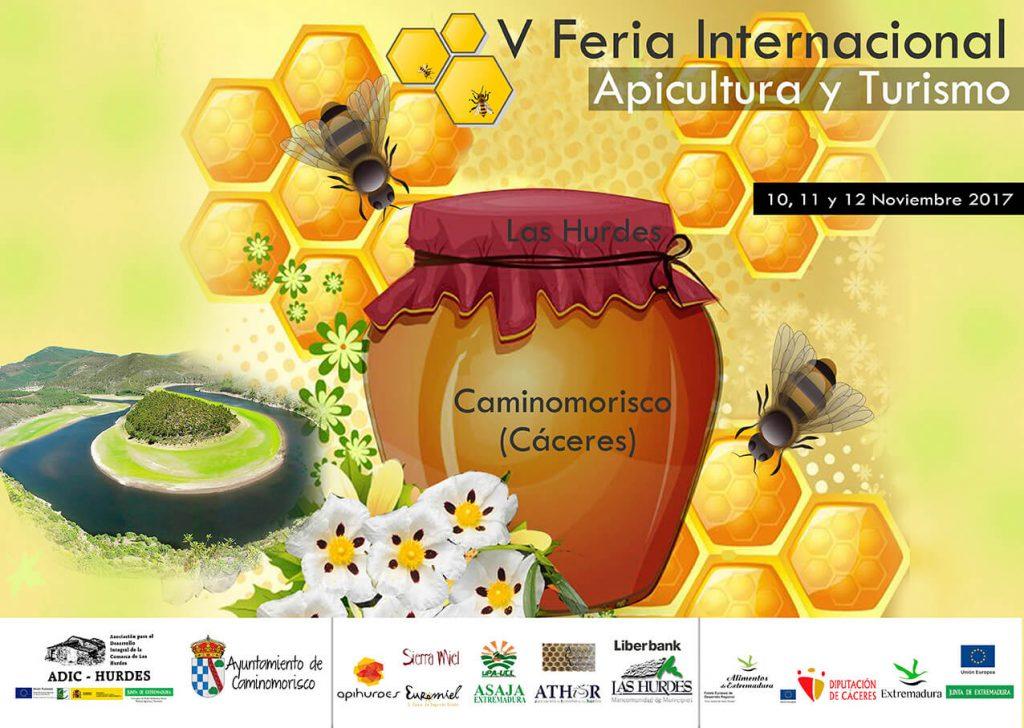 Cartel de la V Feria Internaciona de Apicultura y Turismo